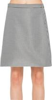Max Studio Mini Check Jacquard A-Line Skirt