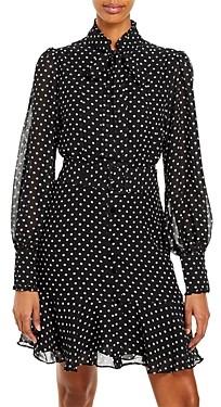 Aqua Sheer Polka Dot Dress 100% Exclusive