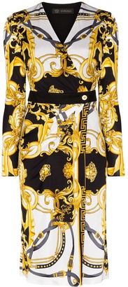 Versace Barocco Rodeo Queen wrap dress