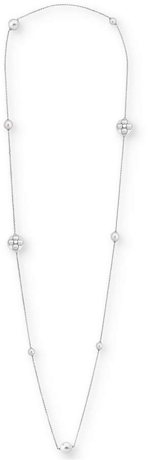 Majorica Sterling Silver Imitation Pearl Long Necklace