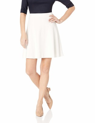 Three Dots Women's HBY3250 Ponte Flared Skirt