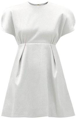 Emilia Wickstead Tinker Textured-lame Mini Dress - Silver