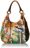 Anuschka Handpainted Leather 514-CCT Large Shoulder Hobo
