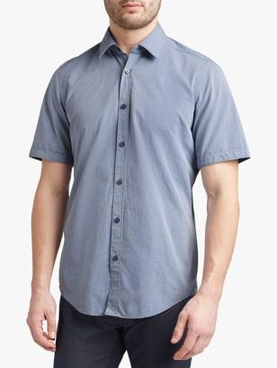 HUGO BOSS Luka Short Sleeve Shirt, Open Blue