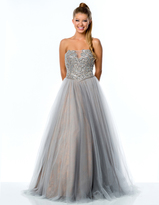 Terani Couture Embellished Illusion Sweetheart Gown 151P0084B