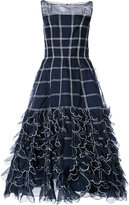 Carolina Herrera ruffled check dress - women - Silk - 2