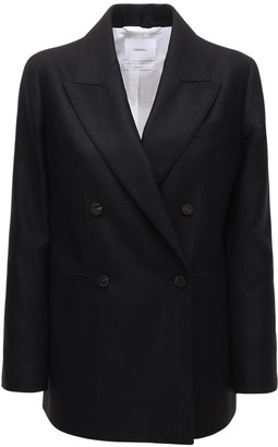 CASASOLA Wool & Silk Double Breast Blazer