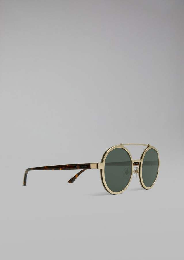Giorgio Armani Catwalk Sunglasses With Rounded Lenses