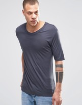 Weekday Jarmo Slinky T-Shirt in Dark Gray