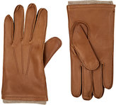 Barneys New York MEN'S WOOL-LINED DEERSKIN GLOVES