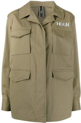 Hogan Military Style Short Coat