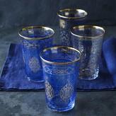 Williams-Sonoma Blue Mosaic Tumblers, Set of 4