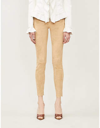 Jitrois Calecon mid-rise slim-fit suede trousers
