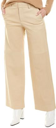 Vince Wide Leg Nubuck Leather Pant