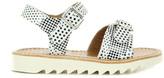 Pom D'Api Buckle Ripple Polka Dot Leather Gladiator Sandals
