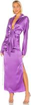 MATÉRIEL Front Tie Two Piece Silk Dress