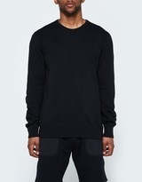 Reigning Champ LS Crewneck - Lightweight Terry in Black