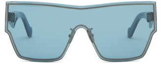 Loewe Shield-lens Acetate Sunglasses - Blue