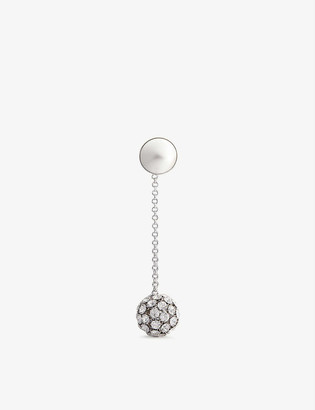Alessandra Rich Faux-pearl and crystal drop earrings