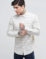Farah Shirt With Graph Check In Slim Fit White