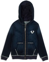 True Religion Boys' French Terry Denim Hoodie - Little Kid
