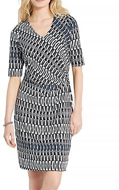 Nic+Zoe Batik Striped Twist Dress