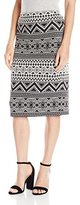 Vince Camuto Women's Tribal Knit Jacquard Midi Tube Skirt