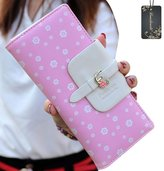 Donalworld Women's Floral PU Leather Clutch Wallets Long Card Holder Purse Wallet
