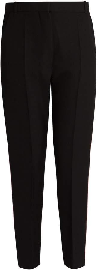 Haider Ackermann Orbai slim-leg cropped wool trousers