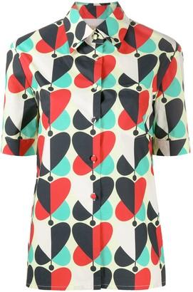 La DoubleJ Heart-Print Short-Sleeved Shirt