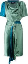 Paule Ka draped satin short sleeve dress - women - Viscose - 38
