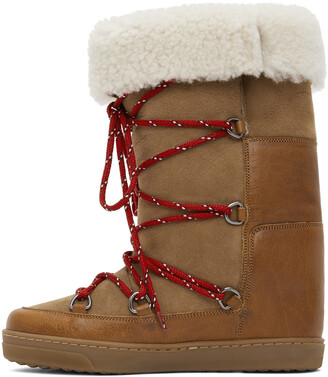 Isabel Marant Brown Shearling Nowly Boots