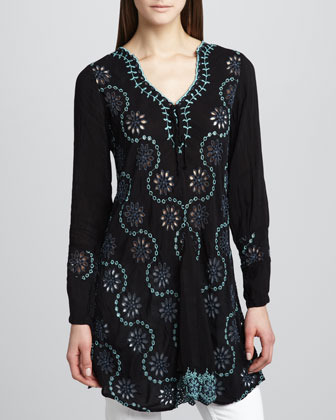 Johnny Was Collection Birch Long-Sleeve Tunic, Women's