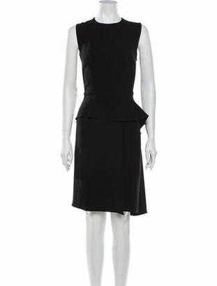 Christian Dior Silk Knee-Length Dress Black