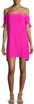 Amanda Uprichard Desiree Off-The-Shoulder Shift Dress, Hot Pink