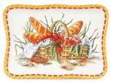 Fitz & Floyd Clam Bake Bread Basket Snack Plate