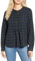 Madewell Shirred Plaid Shirt
