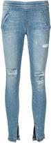 RtA Sonia Pull On Ankle Slit Jeans