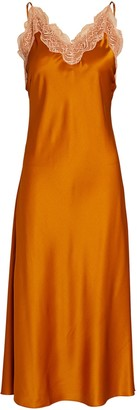 Jonathan Simkhai Blair Lace-Trimmed Silk Slip Dress