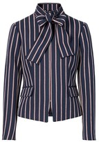 Banana Republic Stripe Bow-Neck Jacket