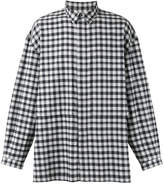 E. Tautz concealed fastening checked shirt