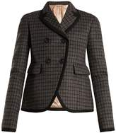 No.21 NO. 21 Checked double-breasted jacket