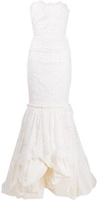 Dolce & Gabbana Lace Ruffle-Hem Dress