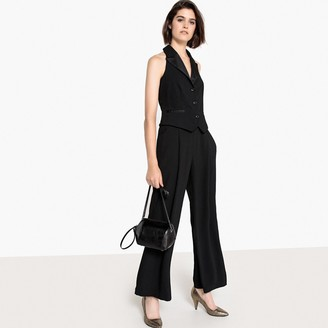 La Redoute Collections Wide Leg Halterneck Blazer Jumpsuit