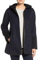 Ellen Tracy Women's Faux Leather Trim Duffle Coat