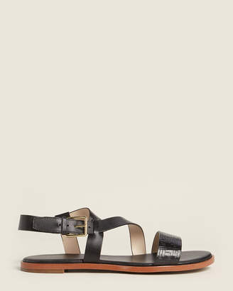 Cole Haan Black Findra Strappy Leather Sandals