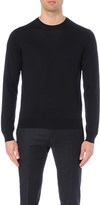 Corneliani crewneck virgin wool jumper