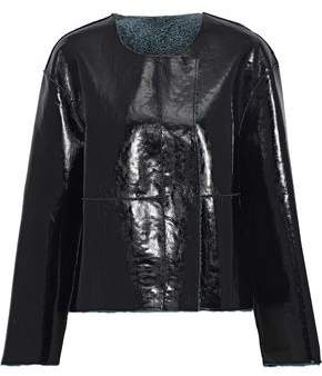 Stand Studio Ines Reversible Faux Shearling Jacket