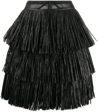 Sara Lanzi High Waisted Layered Skirt