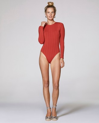 Vince Camuto Long-sleeve One-piece Swimsuit